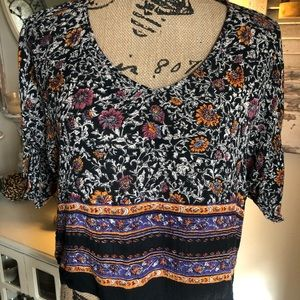 Band of Gypsies top. Multi colored loose style